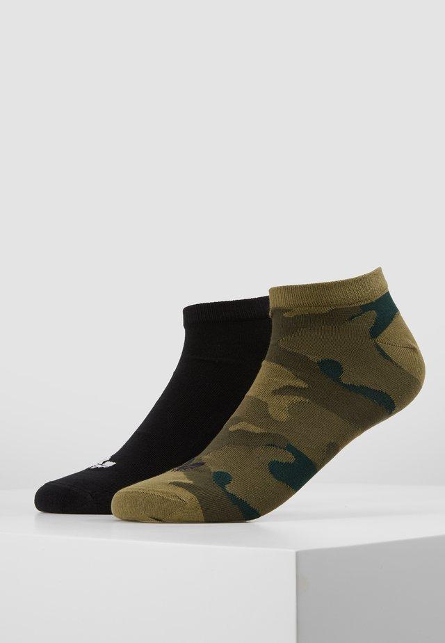 CAMO LINER 2PP - Socks - black/olicar