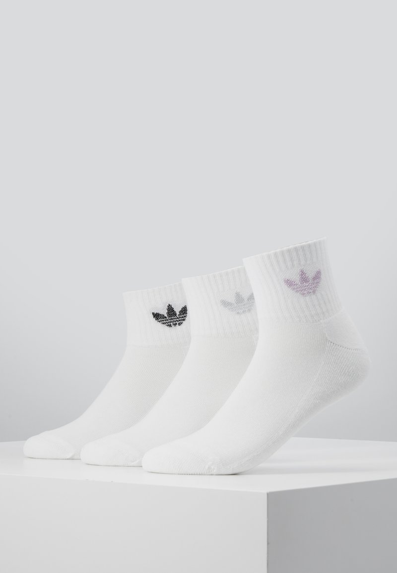 adidas Originals - MID CUT CRW SCK - Calcetines - white