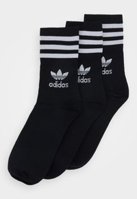 adidas Originals - MID CUT 3 PACK - Ponožky - black/white - 0