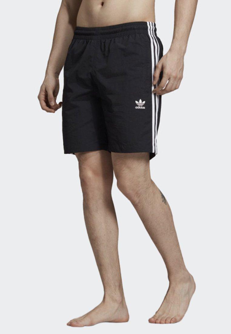 adidas Originals - 3-STRIPES SWIM SHORTS - Short de bain - black