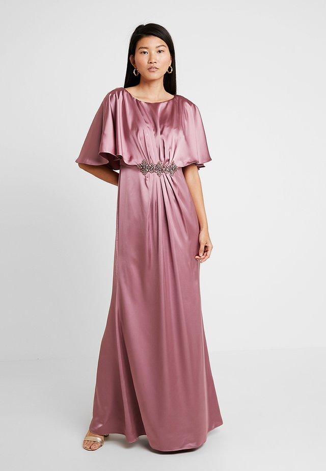 DRAPED CAPE LONG DRESS - Robe de cocktail - rose