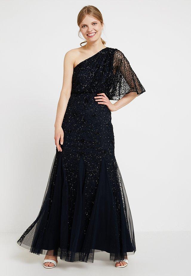 BEADED LONG DRESS - Abito da sera - midnight/black