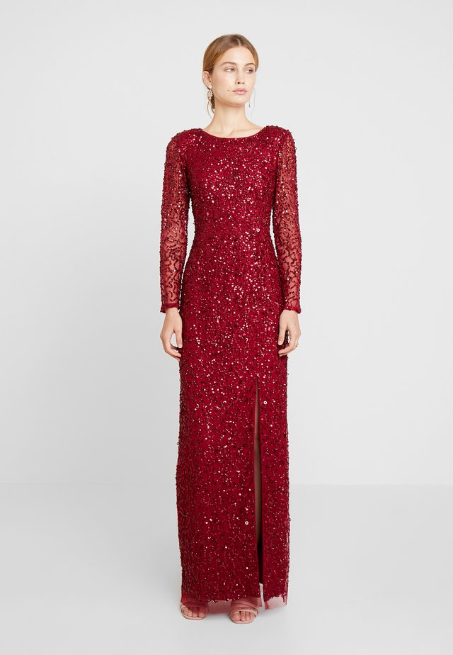 COVERED COLUMN GOWN - Galajurk - cranberry