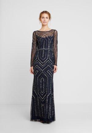 GEO BEADED LONG DRESS - Ballkjole - midnight