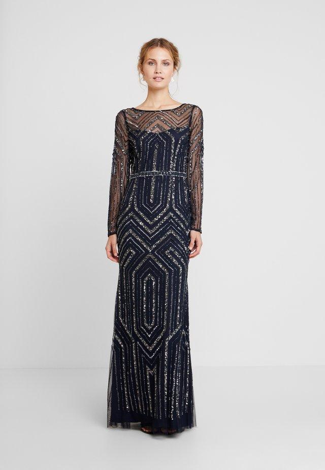 GEO BEADED LONG DRESS - Festklänning - midnight