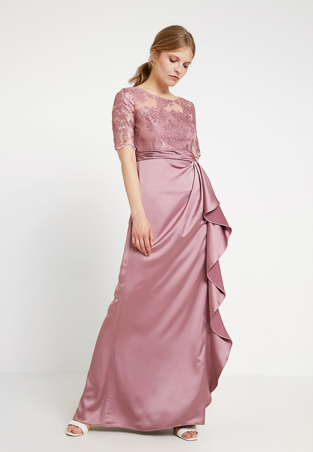EMBROIDERED LONG DRESS - Abito da sera - rose