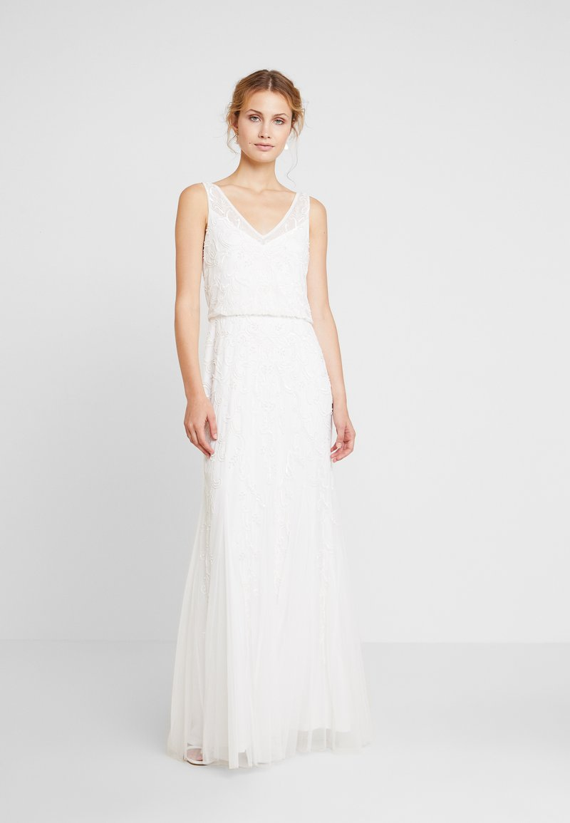 Adrianna Papell - LONG BEADED DRESS - Occasion wear - ivory