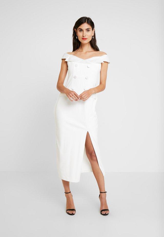 TUXEDO DRESS - Sukienka koktajlowa - ivory