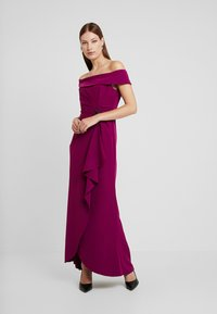 Adrianna Papell - OFF SHOULDER DRAPED GOWN - Occasion wear - wildberry - 2