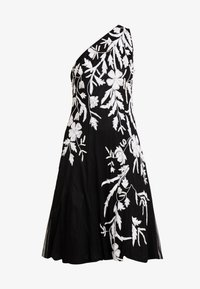 Adrianna Papell - BEADED ONE SHOULDER DRESS - Koktejlové šaty/ šaty na párty - black/ivory - 5