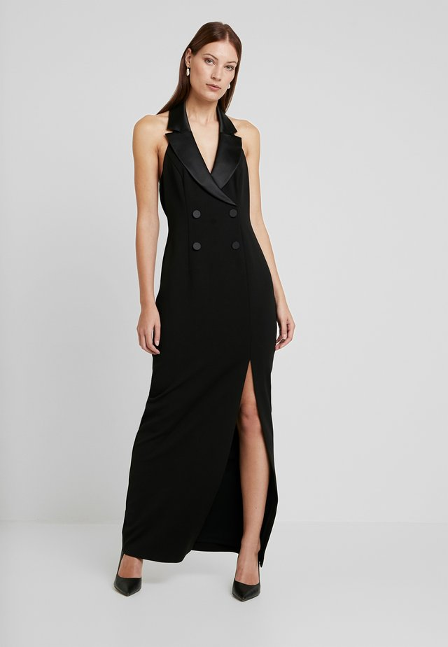 CREPE TUXEDO DRESS - Abito da sera - black