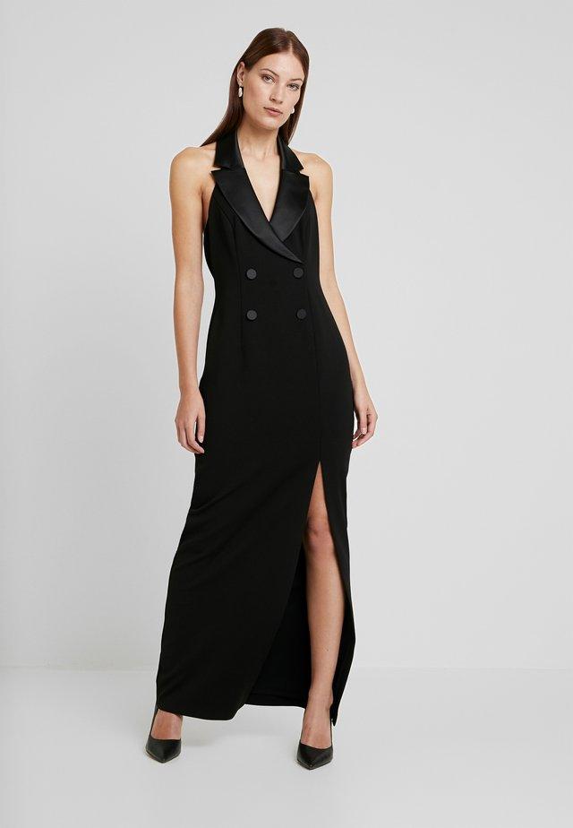 CREPE TUXEDO DRESS - Iltapuku - black