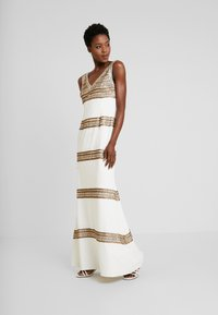 Adrianna Papell - BEADED LONG DRESS - Occasion wear - ivory/gold - 0