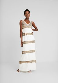 Adrianna Papell - BEADED LONG DRESS - Occasion wear - ivory/gold - 2