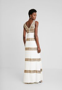 Adrianna Papell - BEADED LONG DRESS - Occasion wear - ivory/gold - 3
