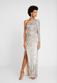 Adrianna Papell - SEQUIN DRAPED GOWN - Iltapuku - silver - 2