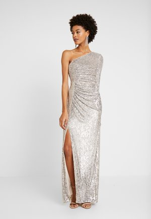 SEQUIN DRAPED GOWN - Suknia balowa - silver