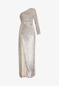 Adrianna Papell - SEQUIN DRAPED GOWN - Iltapuku - silver - 5