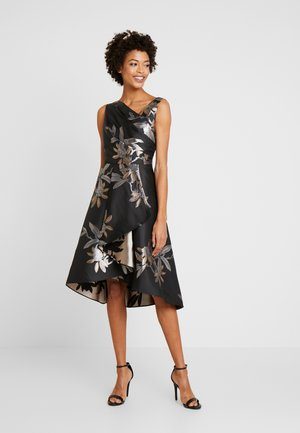 SHORT DRESS - Cocktailjurk - black/champagne