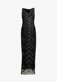 Adrianna Papell - BEADED V NECK COLUMN - Occasion wear - black/gunmetal - 5