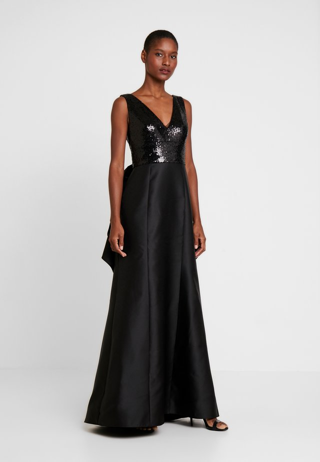 SEQUIN MIKADO GOWN - Iltapuku - black