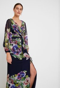 Adrianna Papell - FLORAL PRINTED GOWN - Ballkleid - navy multi - 4