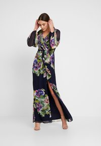 Adrianna Papell - FLORAL PRINTED GOWN - Ballkleid - navy multi - 2