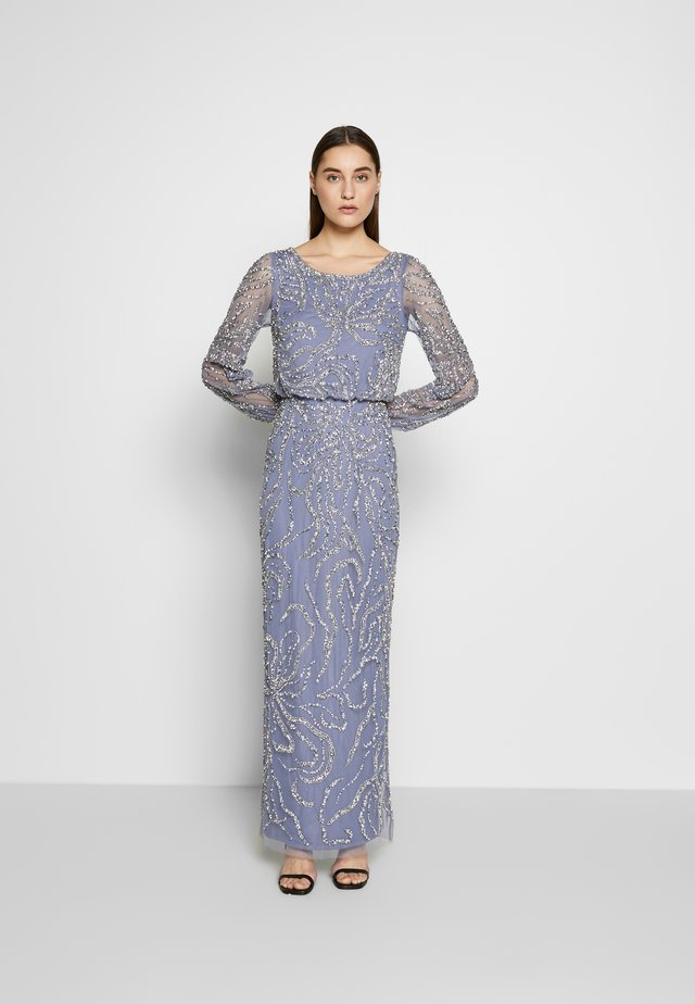 BEADED BLOUSON GOWN - Iltapuku - cool wisteria