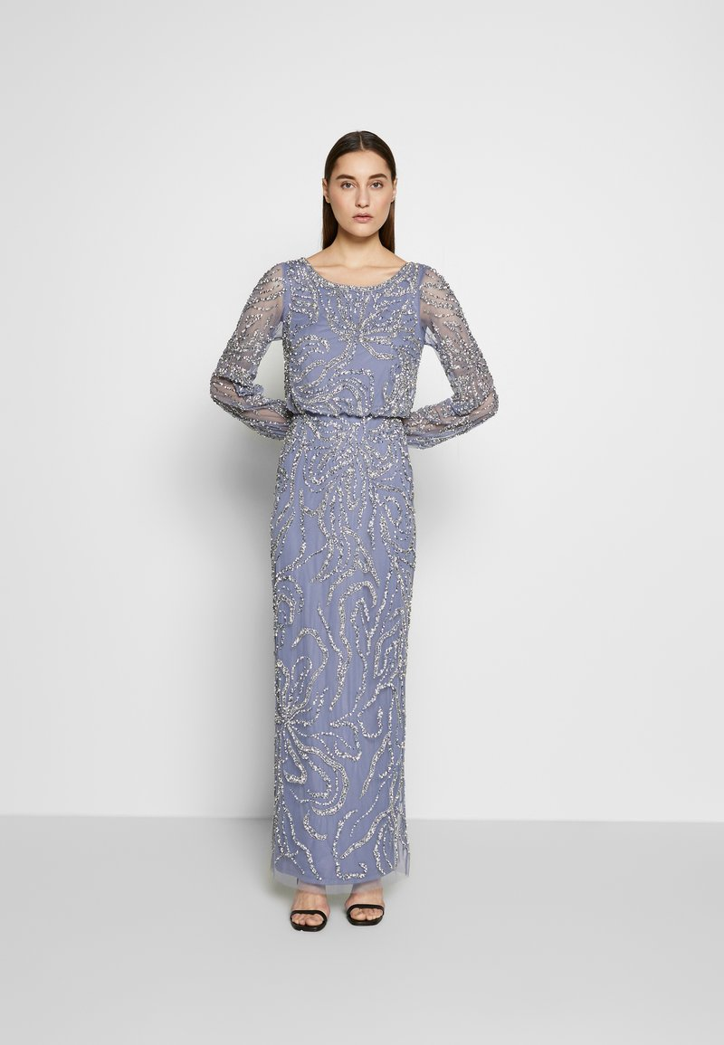 Adrianna Papell - BEADED BLOUSON GOWN - Occasion wear - cool wisteria