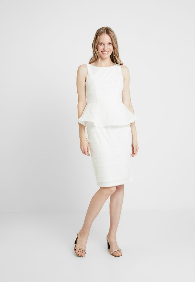 PETAL PEPLUM DRESS - Cocktailkjole - ivory