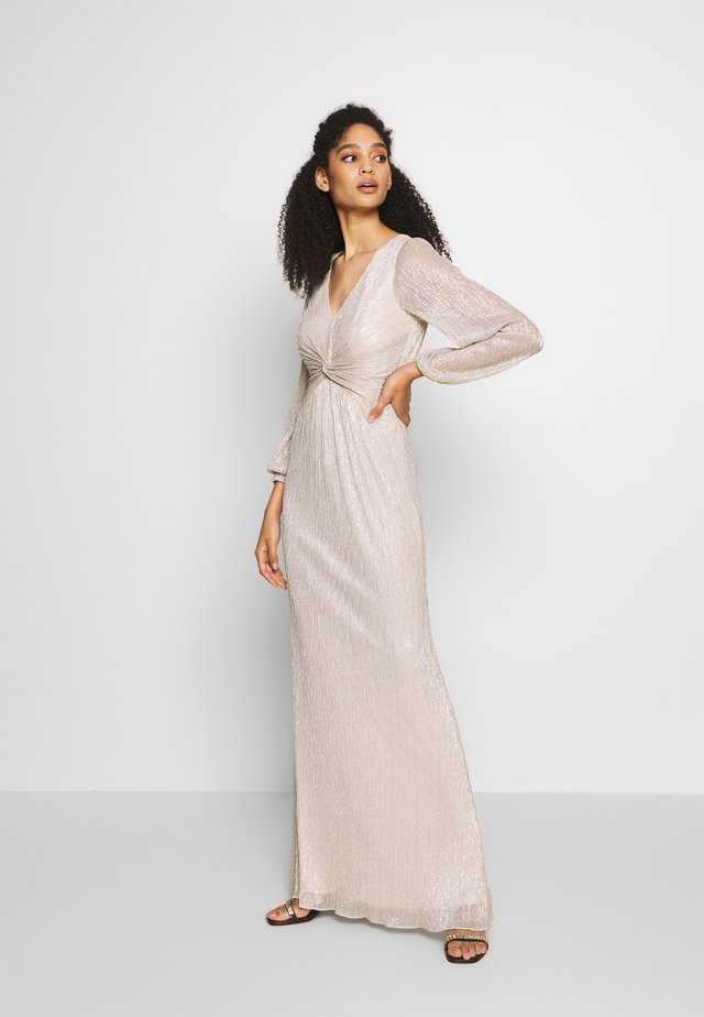 GLITTER DRAPED GOWN - Abito da sera - light champagne