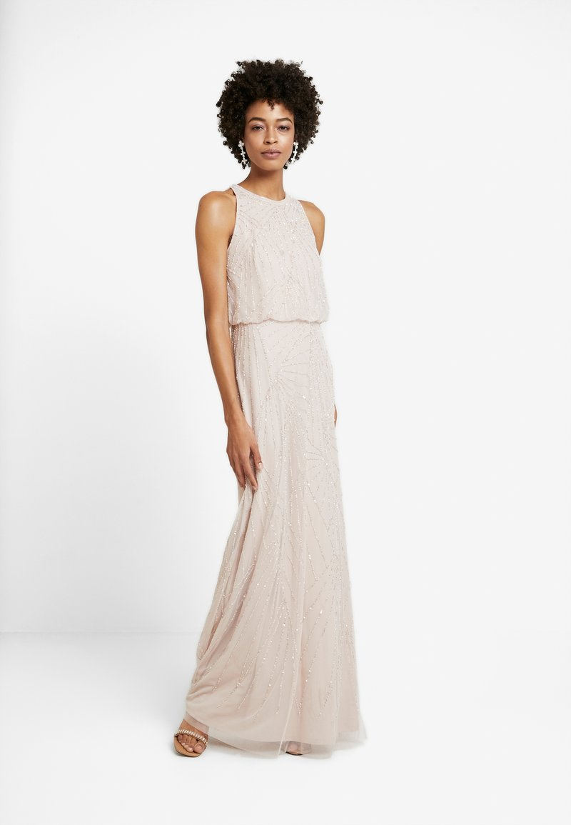 Adrianna Papell - HALTER BEADED DRESS - Occasion wear - shell
