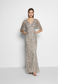 Adrianna Papell - BEADED MERMAID GOWN - Iltapuku - platinum - 1