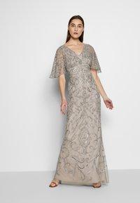 Adrianna Papell - BEADED MERMAID GOWN - Iltapuku - platinum - 0