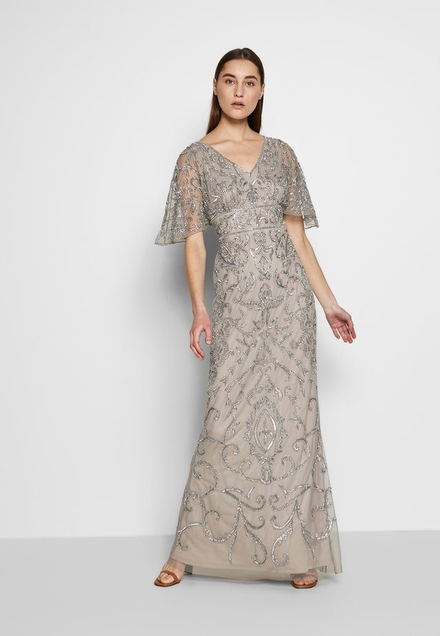 BEADED MERMAID GOWN - Iltapuku - platinum