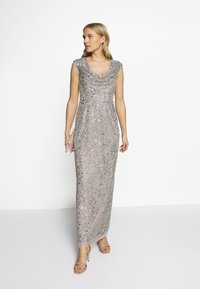 Adrianna Papell - LONG BEADED DRESS - Iltapuku - silver - 1