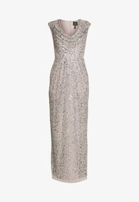 Adrianna Papell - LONG BEADED DRESS - Iltapuku - silver - 3