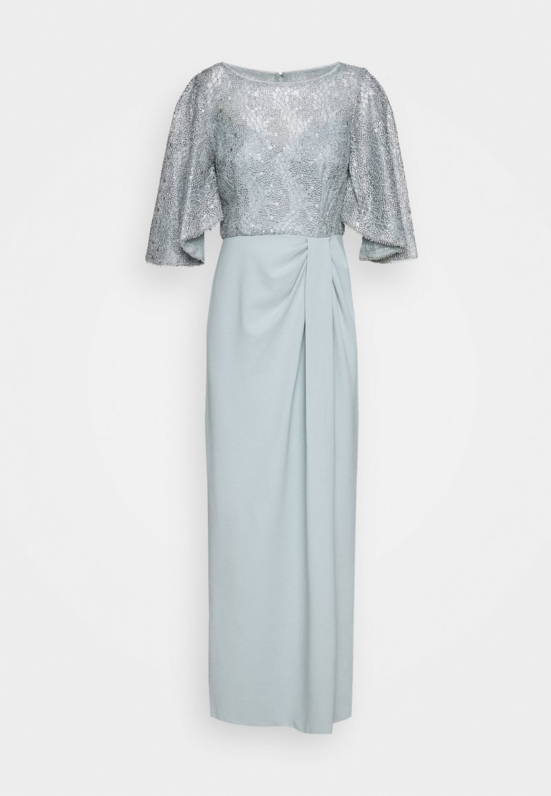 Adrianna Papell - FLUTTER SLEEVE GOWN - Iltapuku - frosted sage