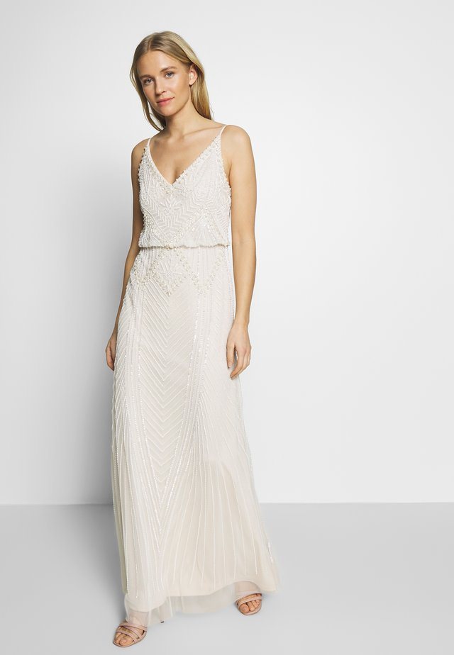 BEADED BLOUSON GOWN - Galajurk - ivory