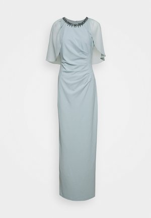CAPELET AND CREPE GOWN - Iltapuku - frosted sage