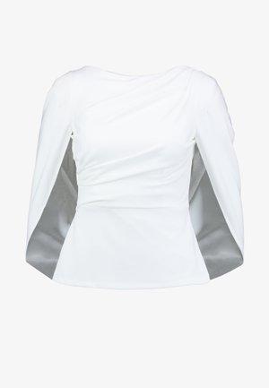 COWL CAPE TOP - Blouse - ivory