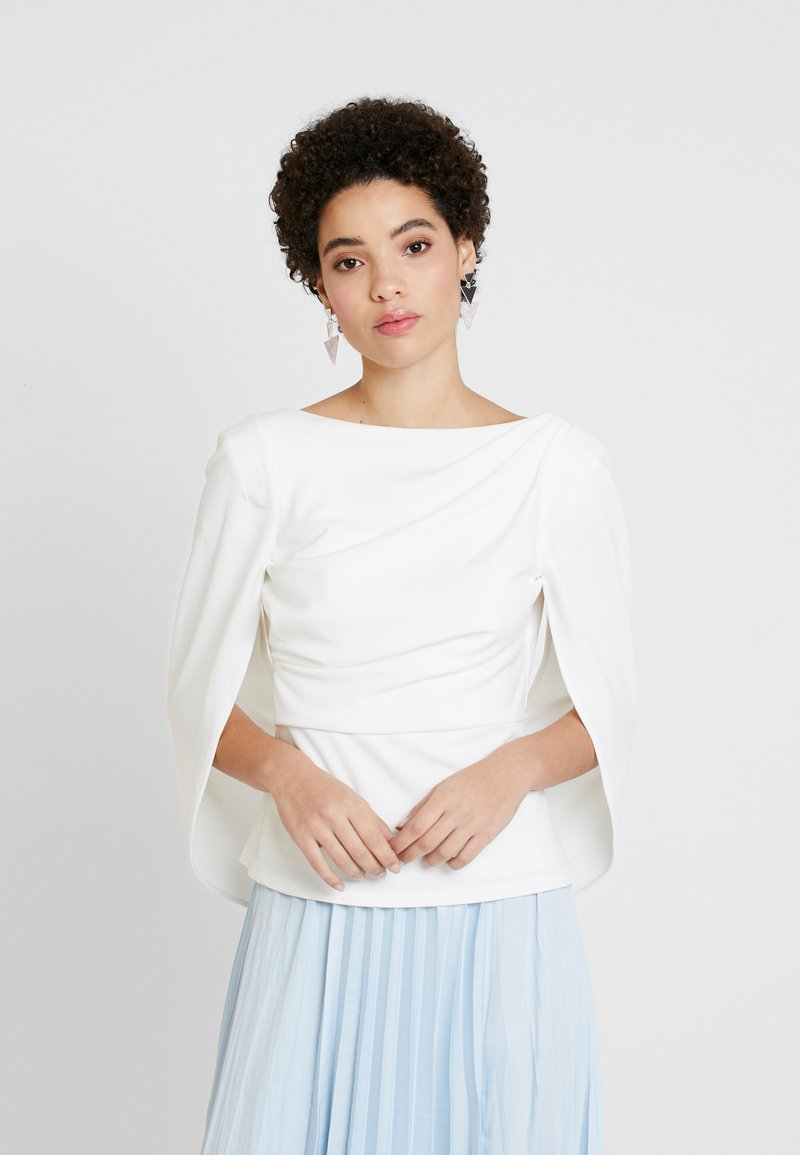 Adrianna Papell - COWL CAPE TOP - Bluser - ivory