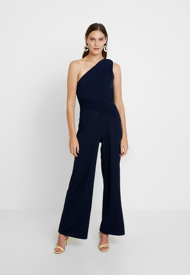 ONE SHOULDER BOOT-CUT JUMPSUIT - Jumpsuit - dusty emerald