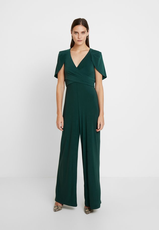 DRAPED JUMPSUIT - Tuta jumpsuit - dusty emerald