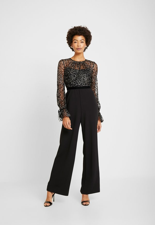 GLITTER - Tuta jumpsuit - black/gold