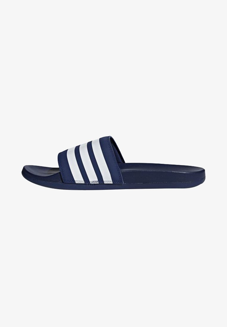 adidas Performance - ADILETTE CLOUDFOAM PLUS STRIPES SLIDES - Pool slides - blue