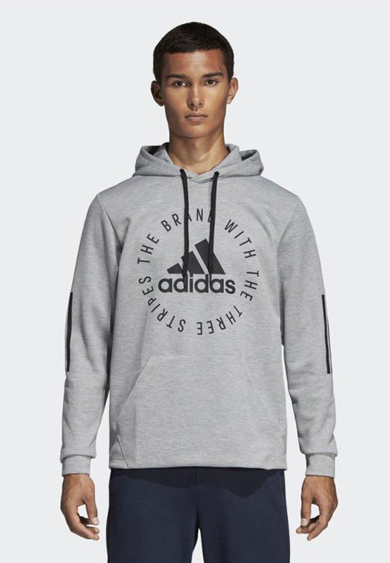 adidas Performance - SPORT ID HOODIE - Kapuzenpullover - grey