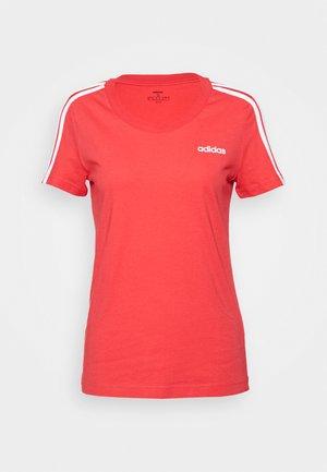 ESSENTIALS 3 STRIPES DAMEN - Print T-shirt - pink/white