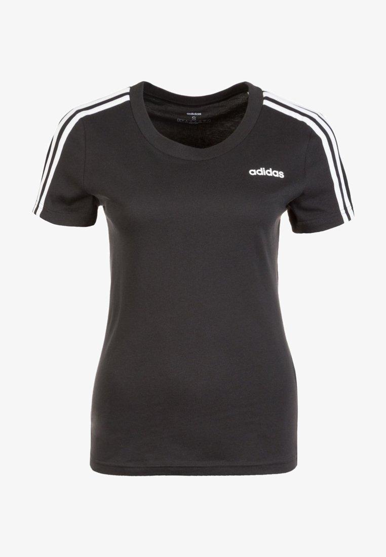adidas Performance - ESSENTIALS 3 STRIPES DAMEN - T-Shirt print - black
