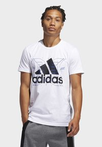 adidas Performance - FUTURE COURTS T-SHIRT - T-shirts med print - white - 0
